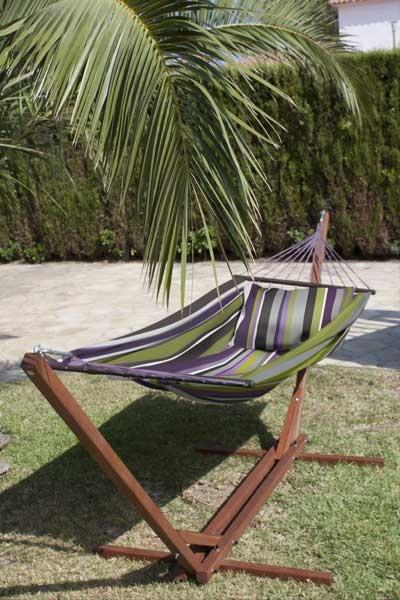 dekomiro h ngematte mit gestell maxi 310 cm provence inkl kissenbezug. Black Bedroom Furniture Sets. Home Design Ideas